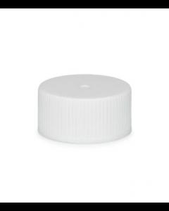 20-410 White Flat top Caps w/Liner PKG Bag of 25