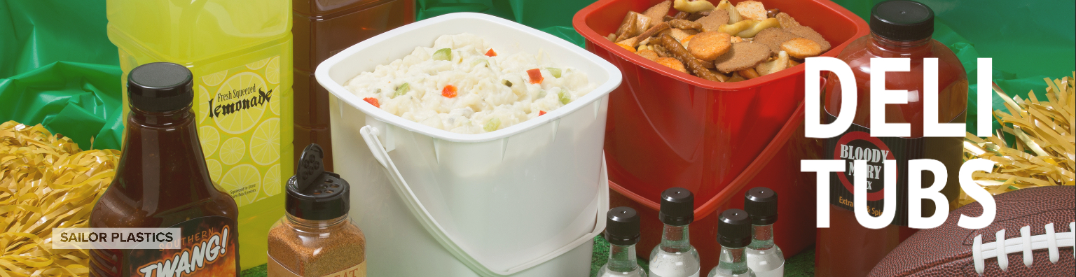 HDPE LDPE Tubs & Lids for Sale